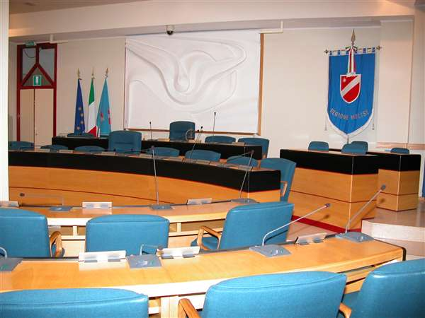 La sede del Consiglio regionale del Molise a Palazzo D'Aimmo
