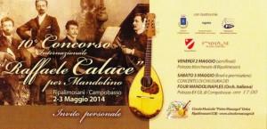 La locandina del concorso internazionale di mandolino 'Calace'