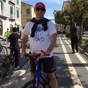Giulio Perrucci in versione sportiva, domenica scorsa ha preso parte a Bicincittà