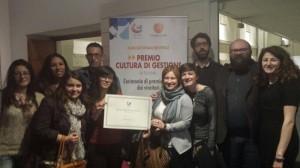 I protagonisti di Jelsi che hanno ricevuto la 'Menzione Speciale' a Roma