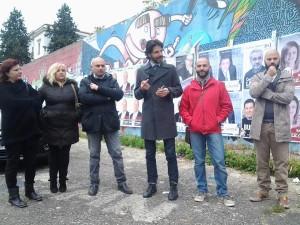 La conferenza stampa del Movimento 5 Stelle al 'Vecchio Romagnoli'