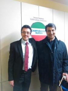 Alessandro Cavone con il candidato sindaco Michele Scasserra