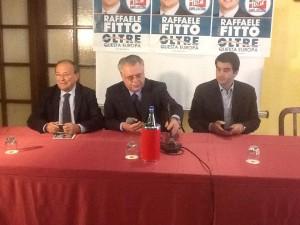 Rosario De Matteis, Michele Iorio e Raffaele Fitto