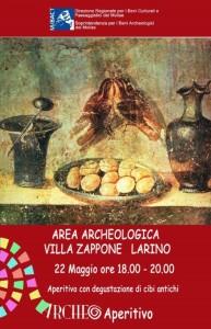 La locandina dell'Archeoaperitivo di Larino