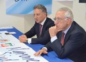 Il candidato sindaco Marone e l'eurodeputato Gargani
