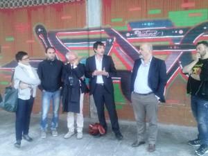 Un momento dell'incontro con il coordinatore nazionale di Sel, il deputato Fratoianni