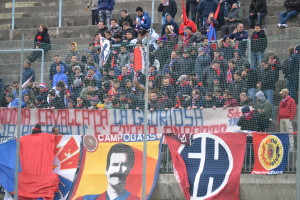 I tifosi del Campobasso in Curva Nord 'Michele Scorrano'
