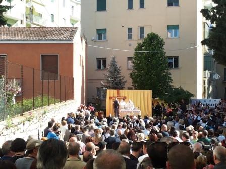 La Santa Messa officiata da Bregantini