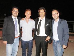 I giornalisti Giuseppe Formato e Gianni Bruno con Andrea Lalli e Vincenzo Cosco