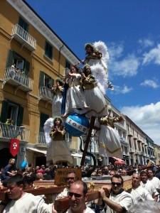 La sfilata dei Misteri: l'Immacolata (foto Fabio Del Balso)