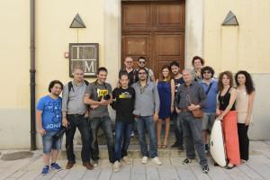Il gruppo di corsisti con Gianfranco Corigliano