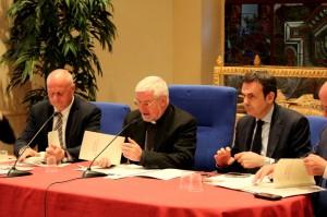 La conferenza stampa: Bregantini tra Battista e Frattura