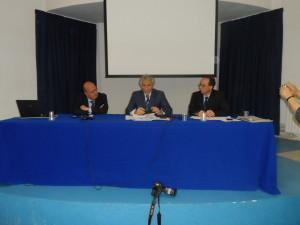 Il procuratore capo D'Alterio tra il giornalista Lupo e il Rettore Palmieri