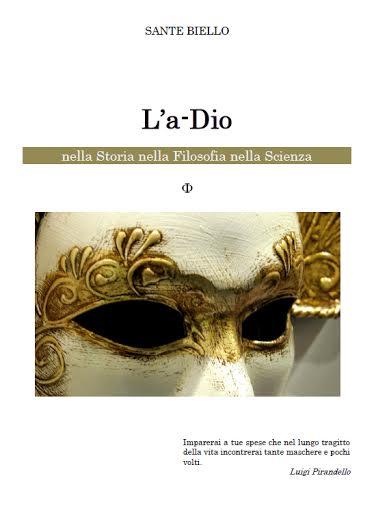 La copertina del testo L'A-Dio' di Sante Biello