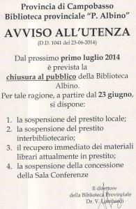 Il manifesto del direttore Vincenzo Lombardi