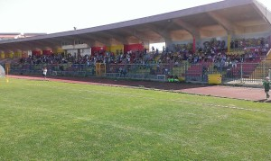 Gli spettatori presenti al 'Cannarsa' per il 'Fun Football'