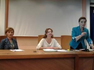 Le consiglieri regionali Angela Fusco Perrella, Nunzia Lattanzio e Patrizia Manzo