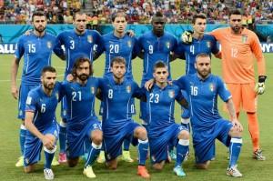 L'Italia scesa in campo all'esordio contro l'Inghilterra