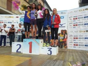 Il podio femminile della 14^ edizione del trofeo 'San Nicandro'