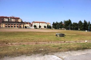 L'area dell'ex stadio 'Romagnoli'