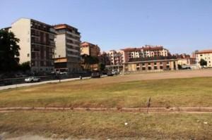 L'area dell'ex stadio 'Romagnoli'