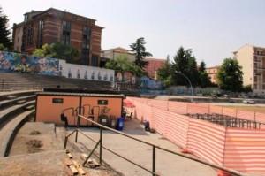 I lavori all'ex stadio 'Romagnoli'