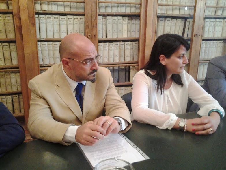 Francesco Pilone e Marialaura Cancellario, i due consiglieri comunali di Campobasso di Democrazia Popolare