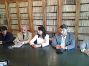 Da sinistra: Perretta, Pilone, Cancellario e Scasserra. Nella foto in home anche Tramontano