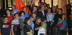 Angelo Sbrocca festeggia la vittoria (foto termoli.tv)