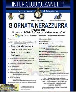 La locandina della 2^ Giornata Nerazzurra, organizzata dall'Inter Club 'Javier Zanetti' di Santa Croce di Magliano