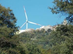 Pale eoliche nel comune di Montelongo
