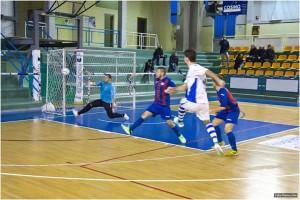 Gabriele Vena durante un'azione di gioco