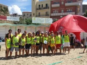 Foto di gruppo della terza tappa del Circuito Beach Tennis Molise