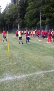 Il primo allenamento del Campobasso (foto Gianni Bruno)