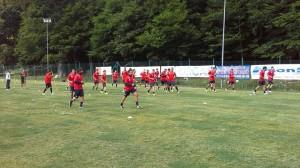 Il primo allenamento del Campobasso
