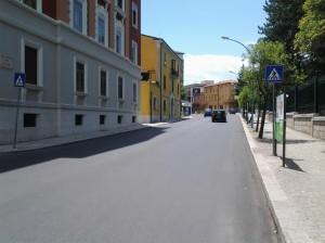 A Campobasso, dopo il restyling per la visita papale manca la segnaletica orizzontale