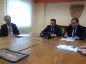 La conferenza stampa di presentazione del sistema idrico integrato e della riqualificazione della rete fognaria