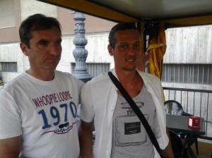 Il presidente Giulio Perrucci con il centrocampista Giorgio Marinucci Palermo