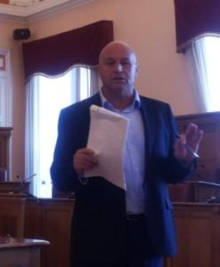 Il sindaco Antonio Battista