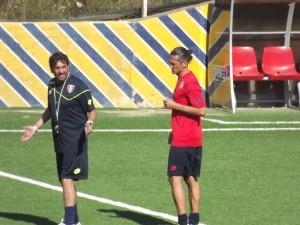 L'allenatore Francesco Farina e il centrocampista Giorgio Marinucci Palermo