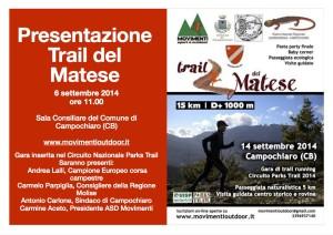 Presentazione Trail del Matese 6 settembre