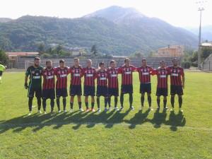 Il Campobasso sceso in campo contro il Termoli domenica 31 agosto in Coppa Italia