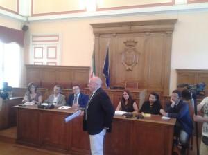 La conferenza stampa di Antonio Battista e della Giunta comunale di Campobasso