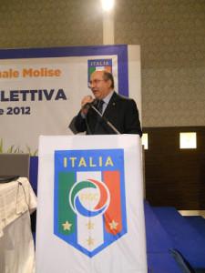 Piero Di Cristinzi, presidente della Figc/Lnd Molise