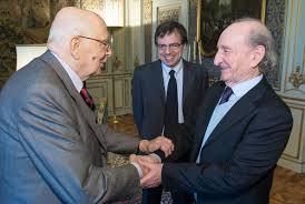 Il compianto giornalista Federico Orlando, qui con il Presidente della Repubblica, Giorgio Napolitano