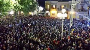 Il pubblico che ha assistito al concerto di Noemi a Bojano domenica 24 agosto