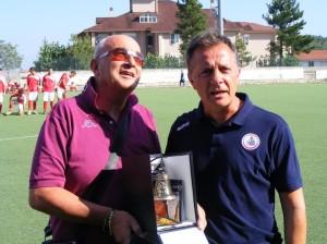 Corrado Urbano, tornato al 'Civitelle' con la Primavera del Bari
