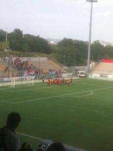 Il Campobasso festeggia a fine gara con i propri tifosi