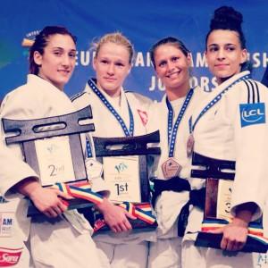 Il podio continentale: Maria Centracchio è argento