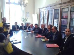 La conferenza stampa dell'assessore Bibiana Chierchia e della maggioranza